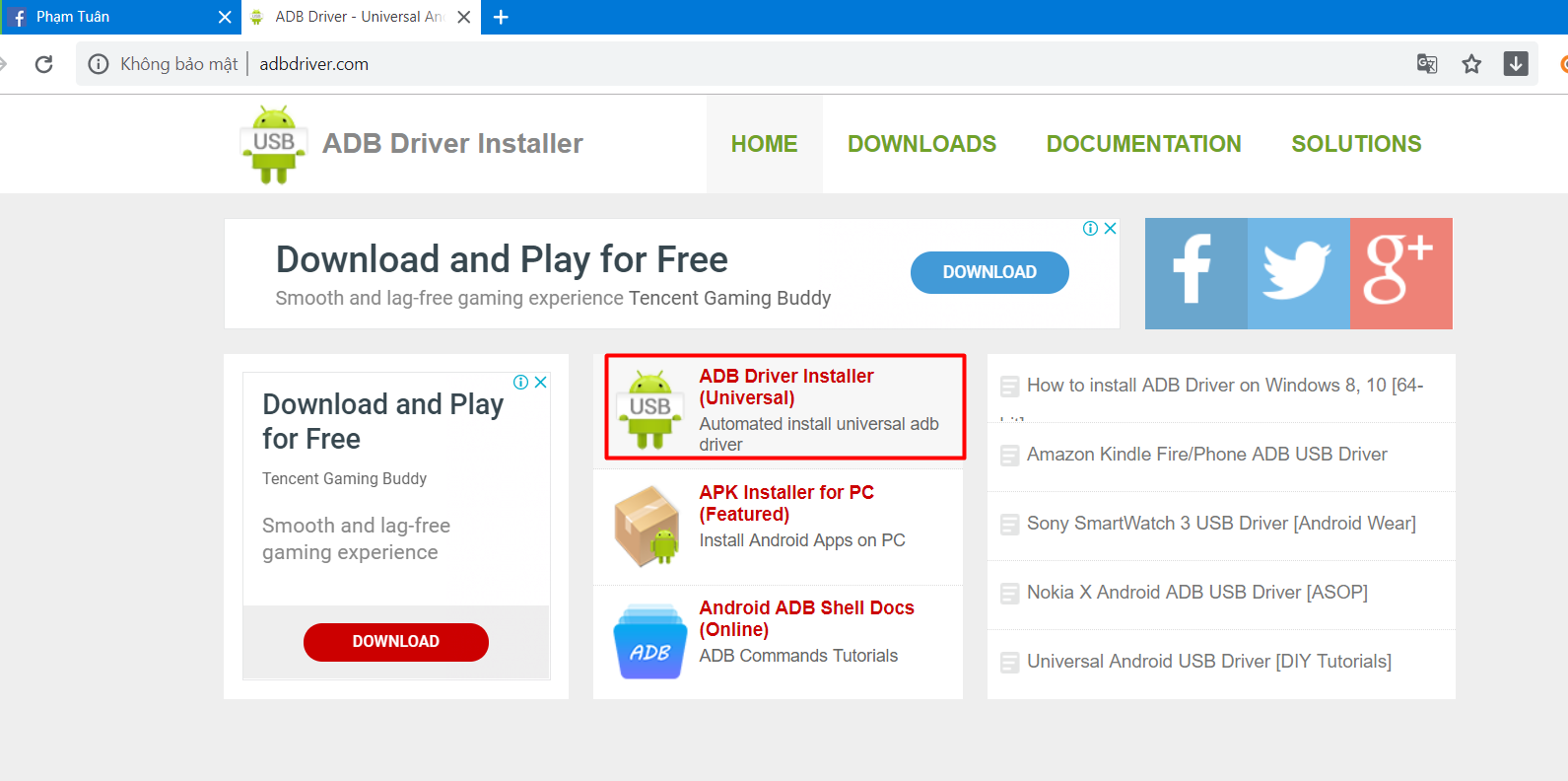 Phần mềm quảng cáo Ninja cung cấp các phần mềm: facebook