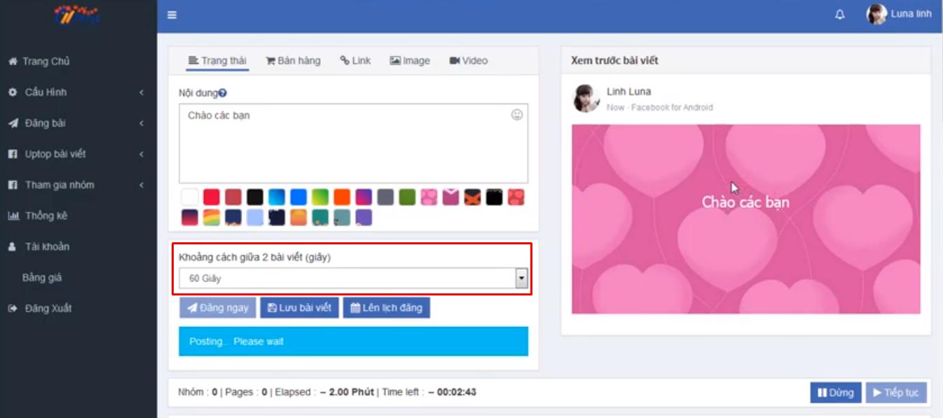 huong dan dang bai len nhom ninja auto post3 Đăng bài lên nhóm tự động bằng phần mềm Auto Post Facebook