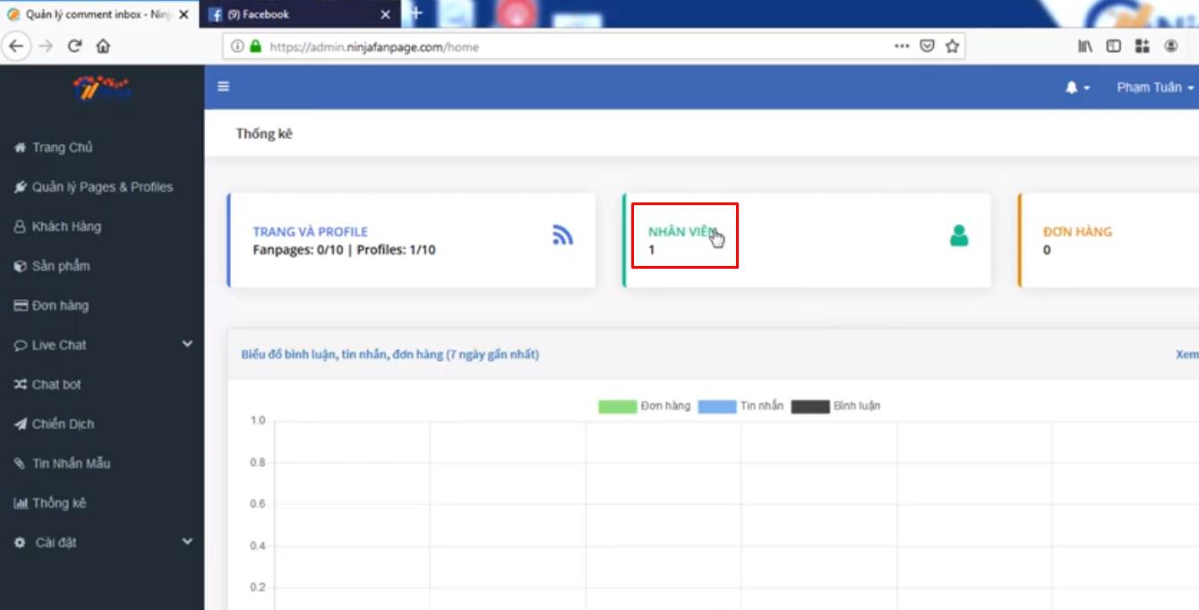 phan quyen nhan vien fanpage Cách thức phân quyền nhân viên trên phần mềm gửi tin nhắn fanpage Ninja Fanpage