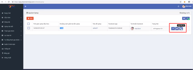 up top bai viet ninja auto post4 Cách uptop bài viết bằng tool đăng bài Facebook tự động Ninja Auto Post