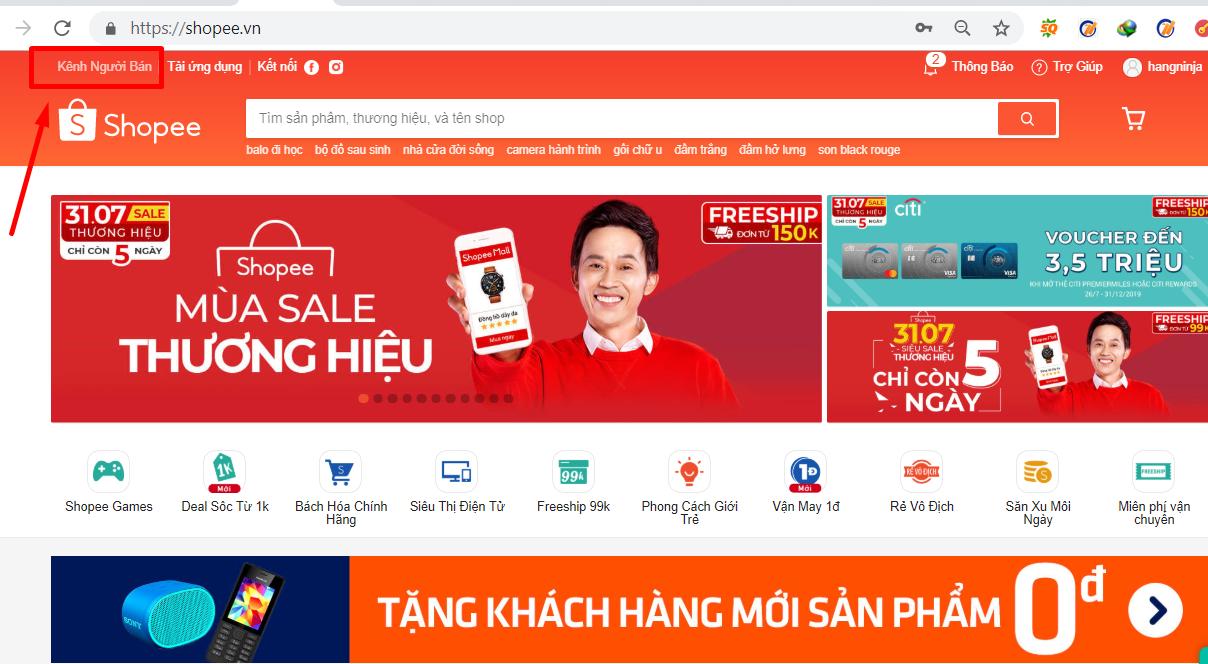 dang ky tk nguoi ban3 Update cách mở tài khoản bán hàng Shopee mới nhất 2019