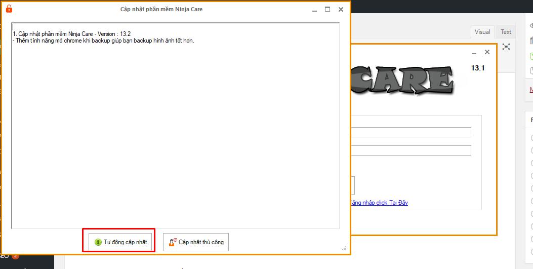 ninja care v13.2 Cập nhật quy trình nuôi nick facebook số lượng lớn Version 13.2