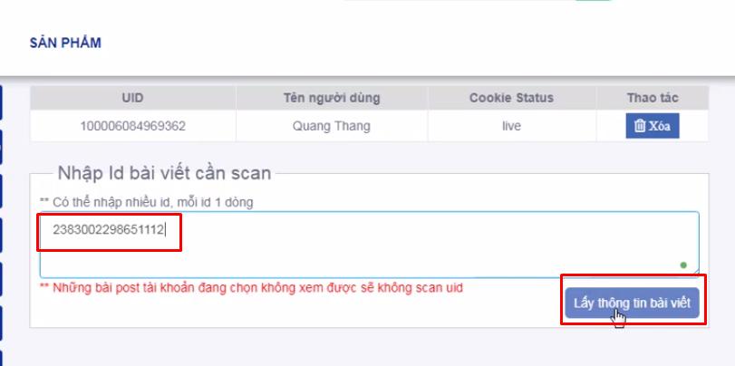 phan mem quet uid mien phi5 Hướng dẫn quét UID người dùng bằng phần mềm quét UID miễn phí