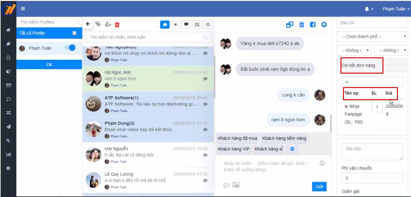 them san pham ninja fanpage4 Hướng dẫn tạo và quản lý sản phẩm bằng phần mềm gửi tin nhắn fanpage Ninja Fanpage