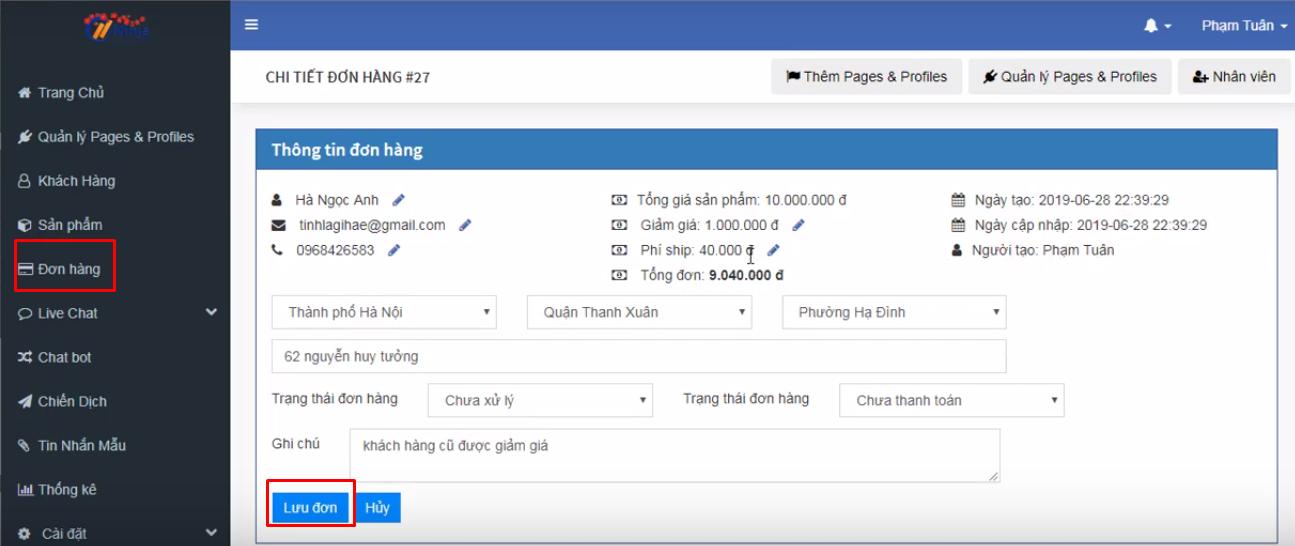 them san pham ninja fanpage6 Hướng dẫn tạo và quản lý sản phẩm bằng phần mềm gửi tin nhắn fanpage Ninja Fanpage