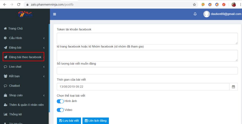 dang bai zalo 1024x524 Ra mắt phần mềm bán hàng zalo Ninja Zalo nhiều tiện ích bất ngờ