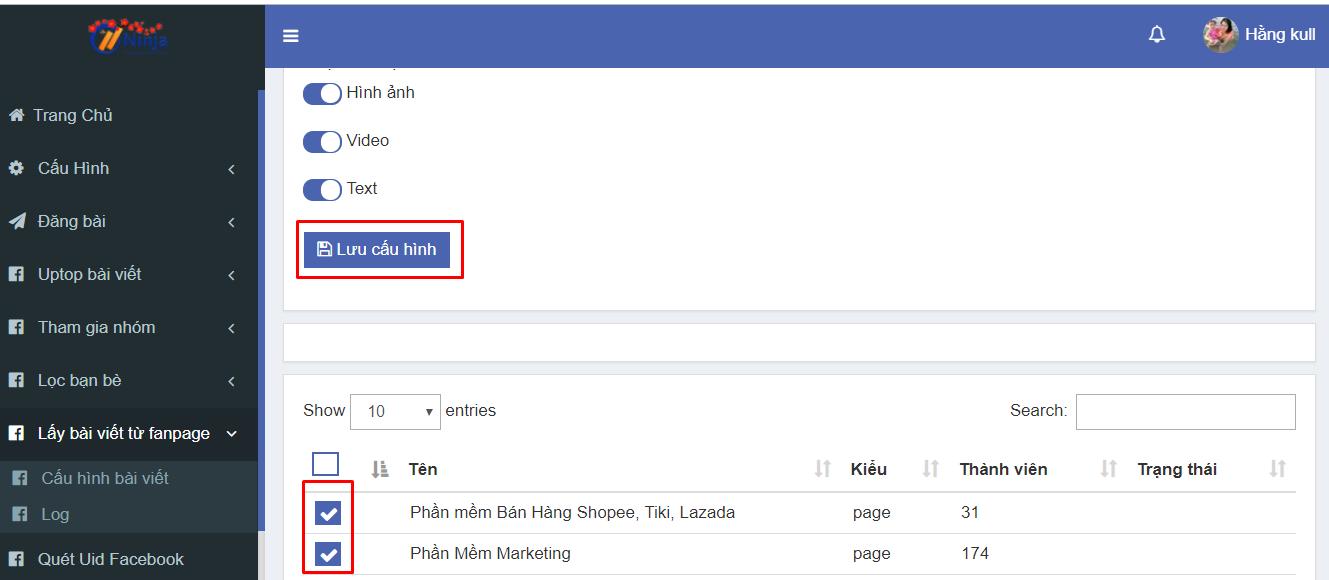 lay bai tu fanpage1 Hướng dẫn đăng bài Fanpage từ facebook tự động bằng tool Auto post facebook