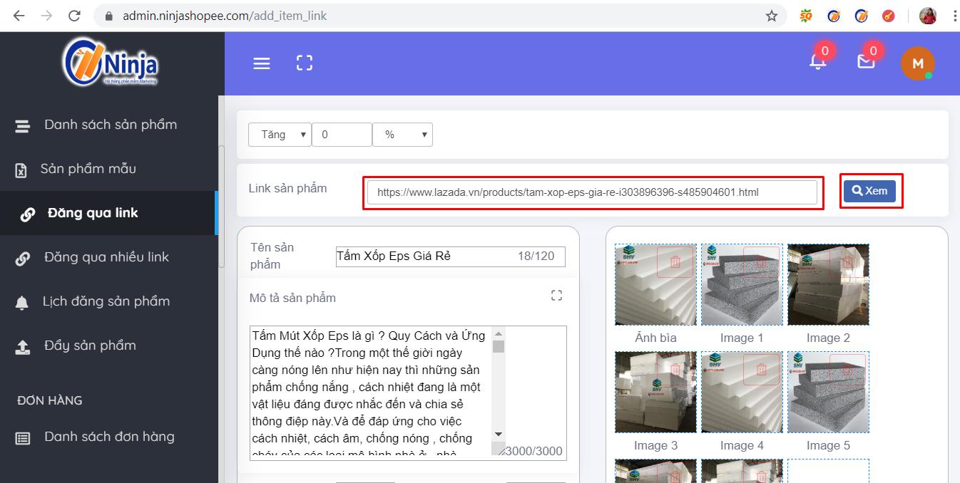 len lich dang san pham Hướng dẫn lên lịch đăng sản phẩm tự động với phần mềm bán hàng shopee Ninja Shopee