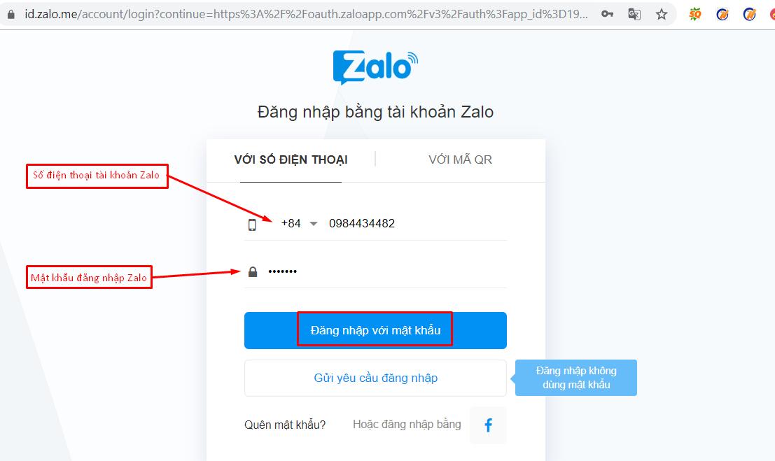 nhap tai khoan zalo2 Cách nhập tài khoản vào phần mềm bán hàng zalo Ninja Zalo