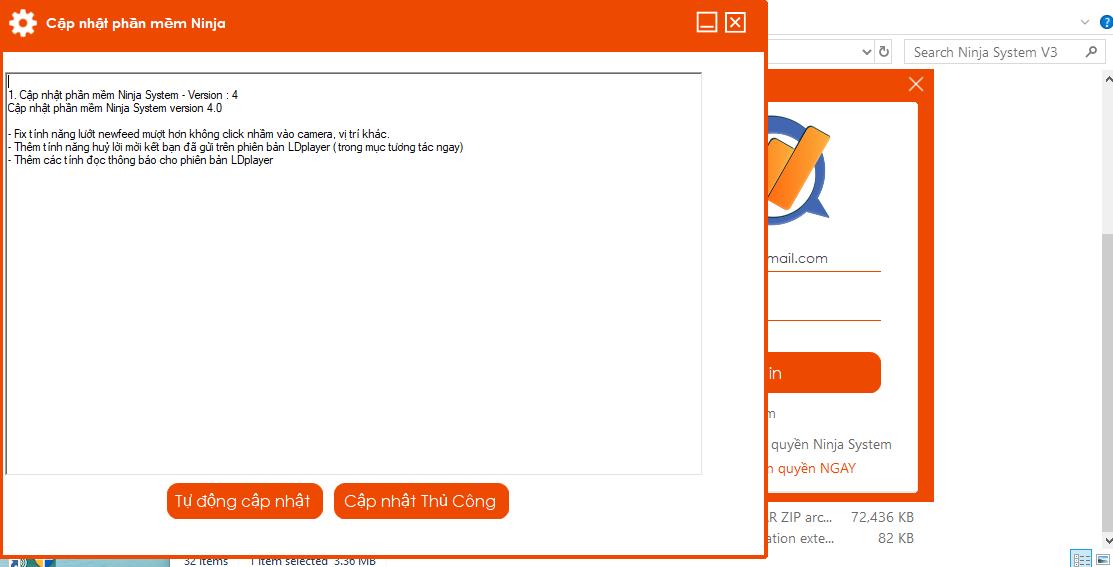 ninja system v4.0 Tool nuôi nick facebook giả lập Ninja System cập nhật phiên bản V4.0
