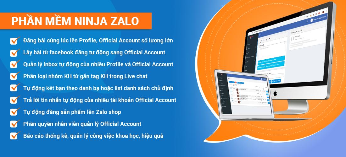 ninja zalo 1 Ninja Zalo   Phần mềm bán hàng Zalo siêu tiện ích, chuyên nghiệp tự động