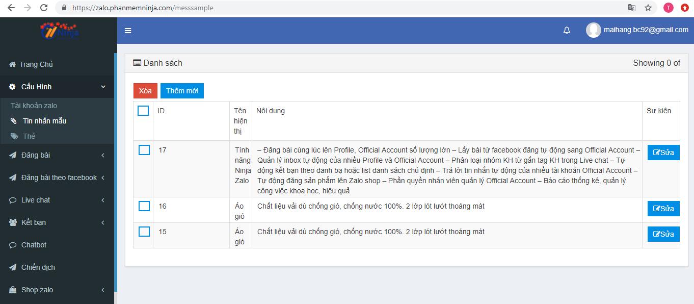 tin nhan mau zalo Ninja Zalo   Phần mềm bán hàng Zalo siêu tiện ích, chuyên nghiệp tự động