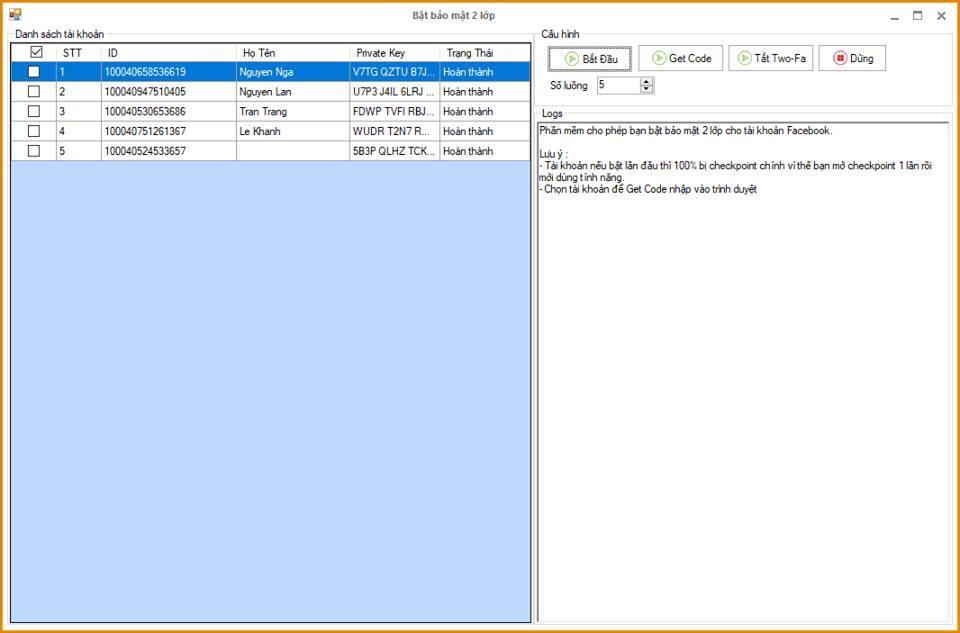 update bao mat 2lop Phần mềm nuôi nick facebook Ninja Care update version 13.3 bật bảo mật 2 lớp