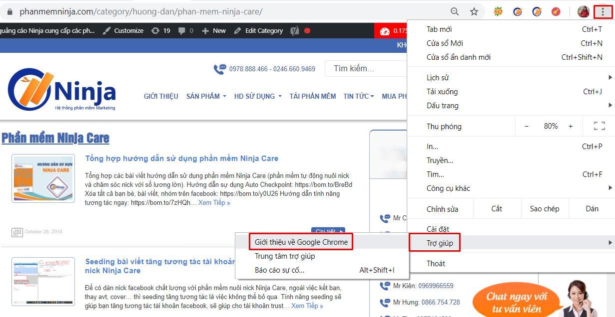 cap nhat chrome driver Cách khắc phục lỗi không mở trình duyệt trên tool nuôi nick facebook Ninja Care