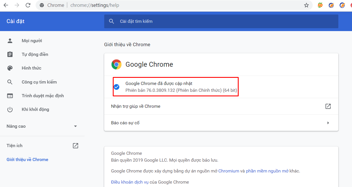 cap nhat chrome driver1 Cách khắc phục lỗi không mở trình duyệt trên tool nuôi nick facebook Ninja Care