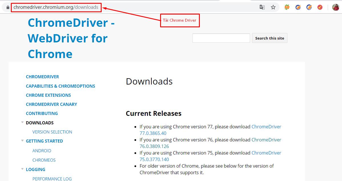 cap nhat chrome driver2 Cách khắc phục lỗi không mở trình duyệt trên tool nuôi nick facebook Ninja Care