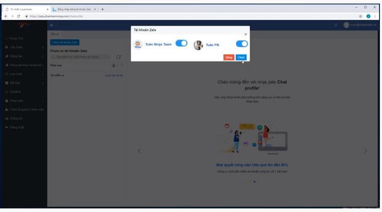 chat truc tiep tren ninja zalo 3 NInja Zalo hướng dẫn chát trực tiếp trên phần mềm