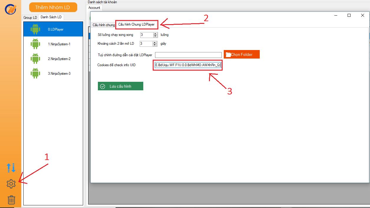 check uid info Tool nuôi nick trên giả lập Ninja System for LDPlayer update phiên bản 4.7 nhiều tính năng