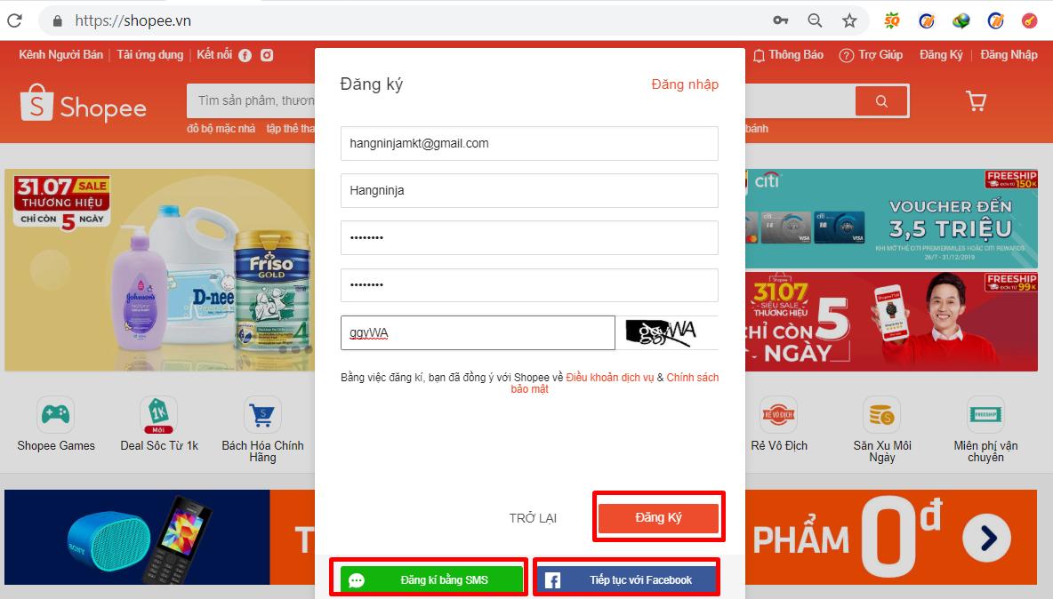dang ky tk nguoi ban2 Cách mở gian hàng trên Shopee dành cho người mới bán hàng trên shopee