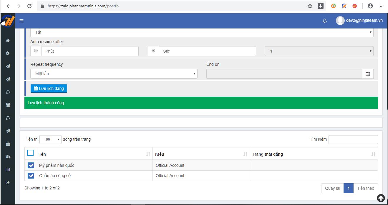 lay bai facebook Các bước lấy bài đăng từ facebook qua zalo với phần mềm đăng bài tự động Ninja Zalo