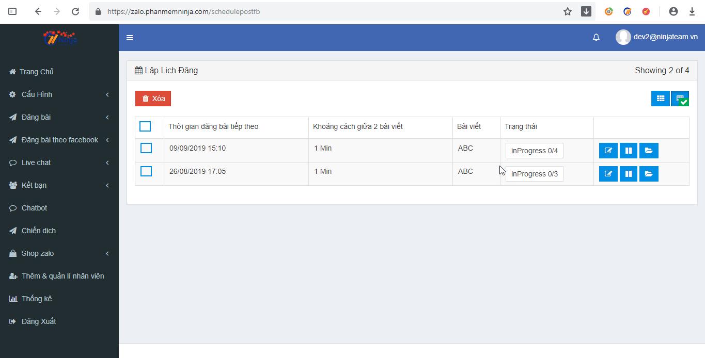 lay bai facebook1 Các bước lấy bài đăng từ facebook qua zalo với phần mềm đăng bài tự động Ninja Zalo