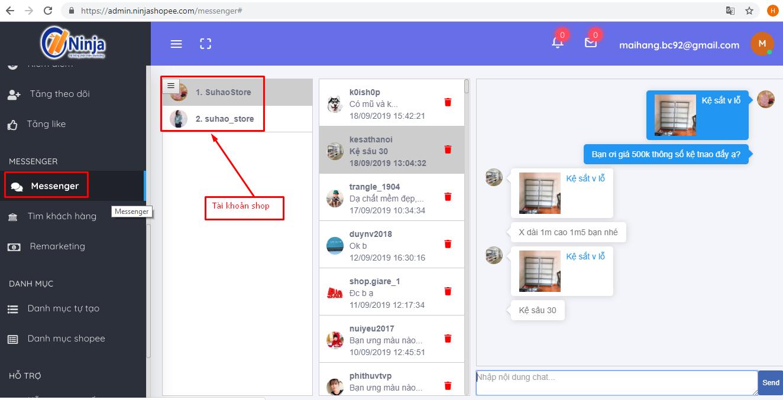 quan ly tin nhan shopee Cách quản lý tin nhắn nhiều tài khoản Shopee bằng Ninja Shopee