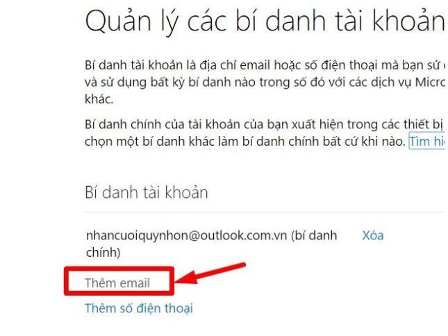 tao mail bi danh 3 4 bước nhanh chóng tạo tài khoản facebook từ Outlook