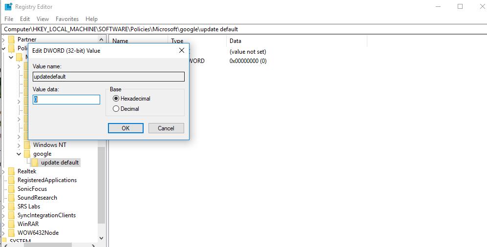 tat tu dong cap nhat3 Hướng dẫn 3 cách tắt tính năng tự cập nhật chrome trong window