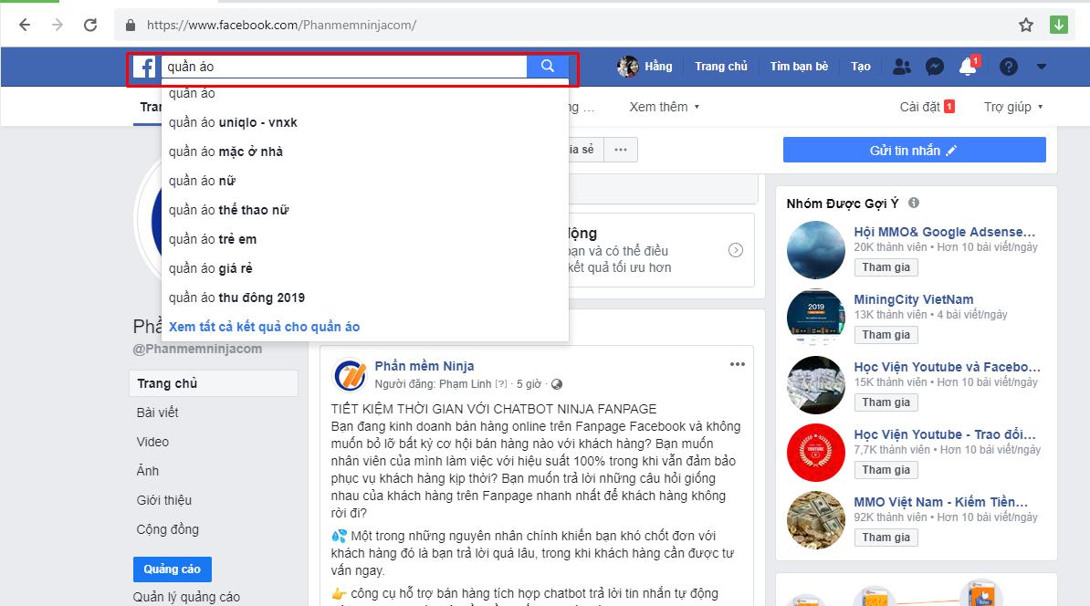 tim kiem nhom Hướng dẫn tìm nhóm Facebook chất lượng để bán hàng online