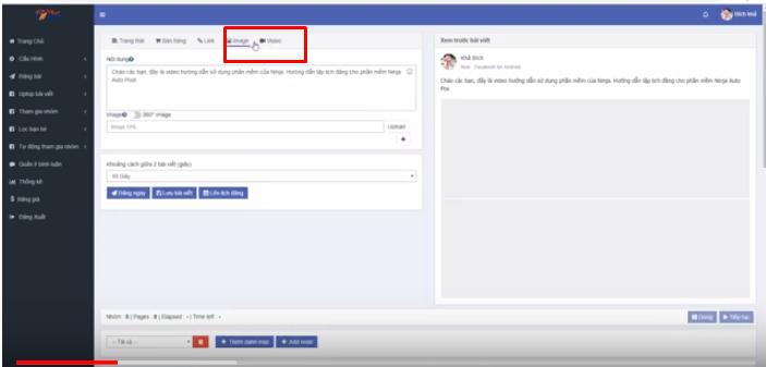 noi dung bai dang Các bước lập lịch đăng bài Facebook với Ninja Auto Post