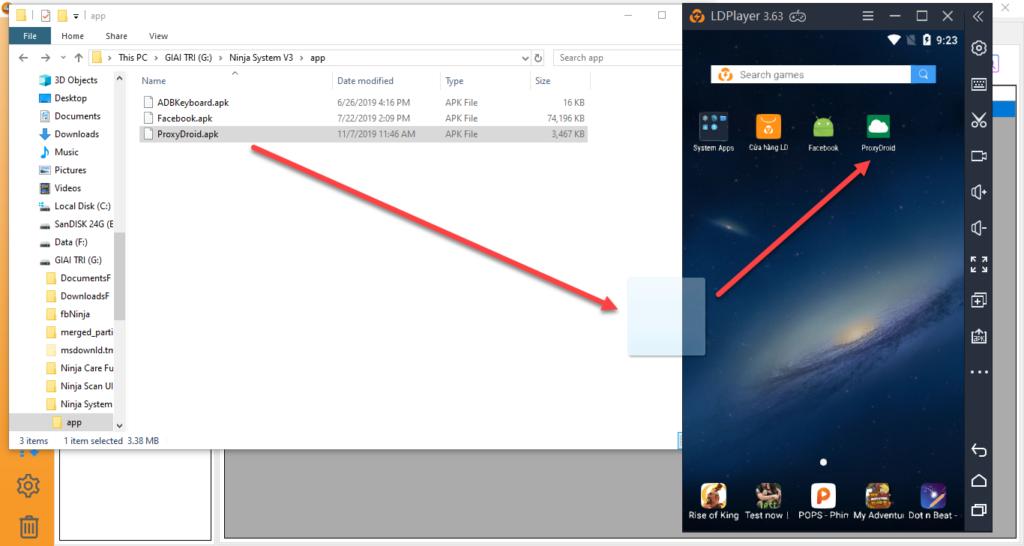 1 3 1024x546 Ninja hướng dẫn cách gán Proxy trong System for LDPlayer