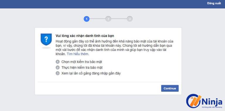 Mẹo mở khóa checkpoint Facebook dễ dàng với Ninja Care - 280069
