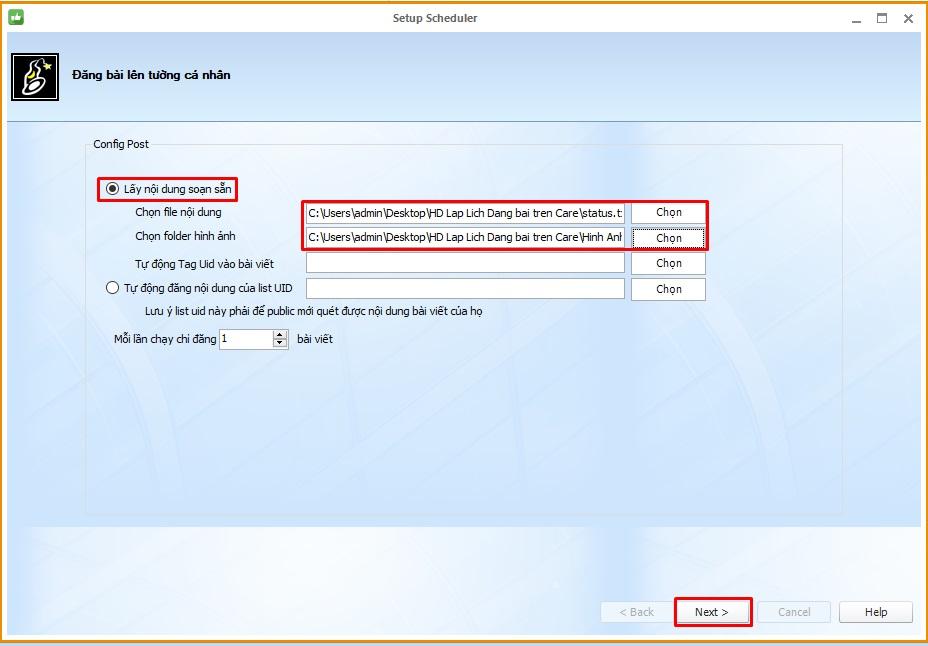 Lap lich dang bai 3 Hướng dẫn lập lịch đăng bài Facebook với Phần mềm Ninja Care