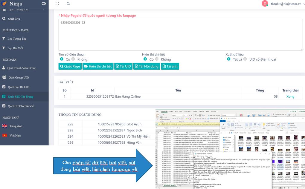 Screenshot 1 Phần mềm UID Pro   Phân tích, Convert UID, BIG data cho dân chạy Ads