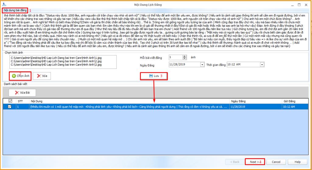 b2 1 1024x559 Ninja Care hướng dẫn lên lịch đăng bán hàng trên giao diện mới của phần mềm