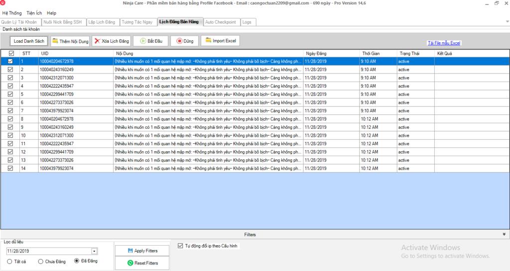 b4 1024x545 Ninja Care hướng dẫn lên lịch đăng bán hàng trên giao diện mới của phần mềm