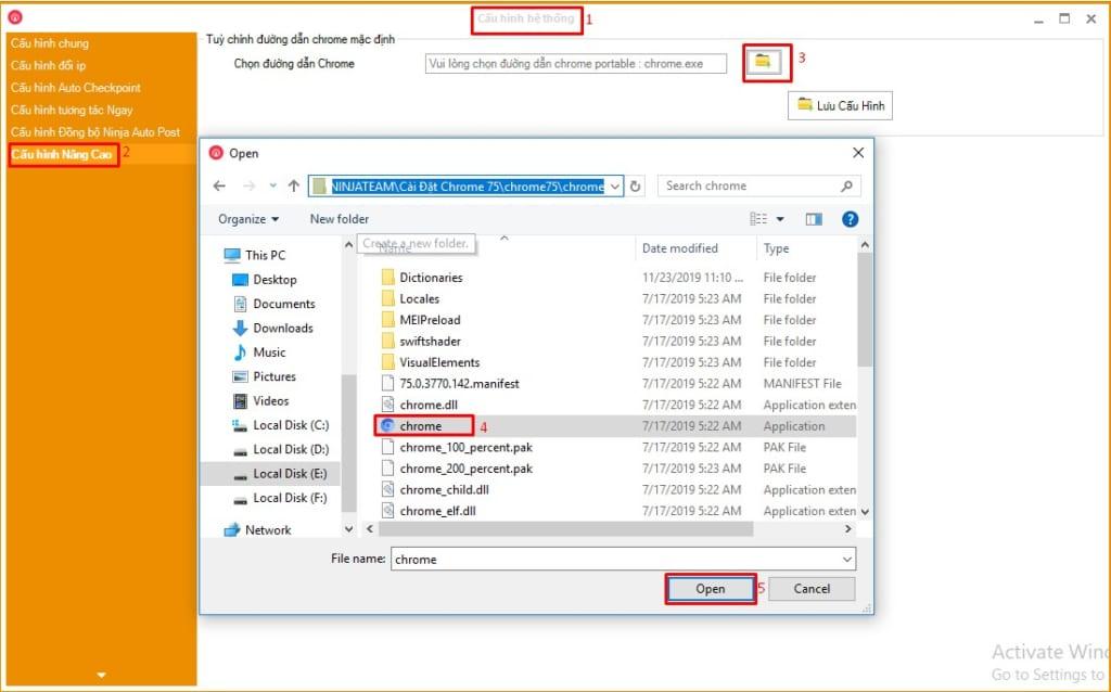 cach cau hinh chrome75 1 1024x638 Hướng dẫn Cấu hình Chrome75 trên Phần mềm Ninja Care