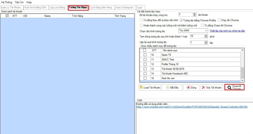 cau hinh chrom 75 1024x542 Hướng dẫn Cấu hình Chrome75 trên Phần mềm Ninja Care