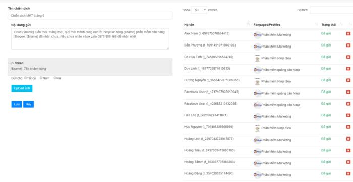 chien dich ninja fanpage Phần mềm Ninja Fanpage   Quy trình vận hành khép kín bạn nên biết