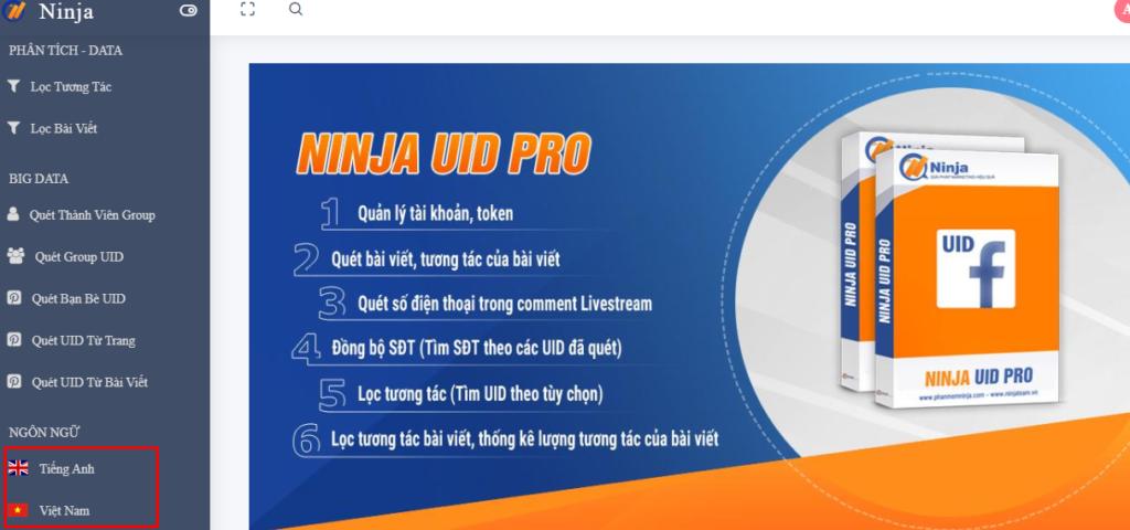 da ngon ngu uid pro 1024x480 Quét Livestream bằng Ninja UID Pro và những điểm khác biệt