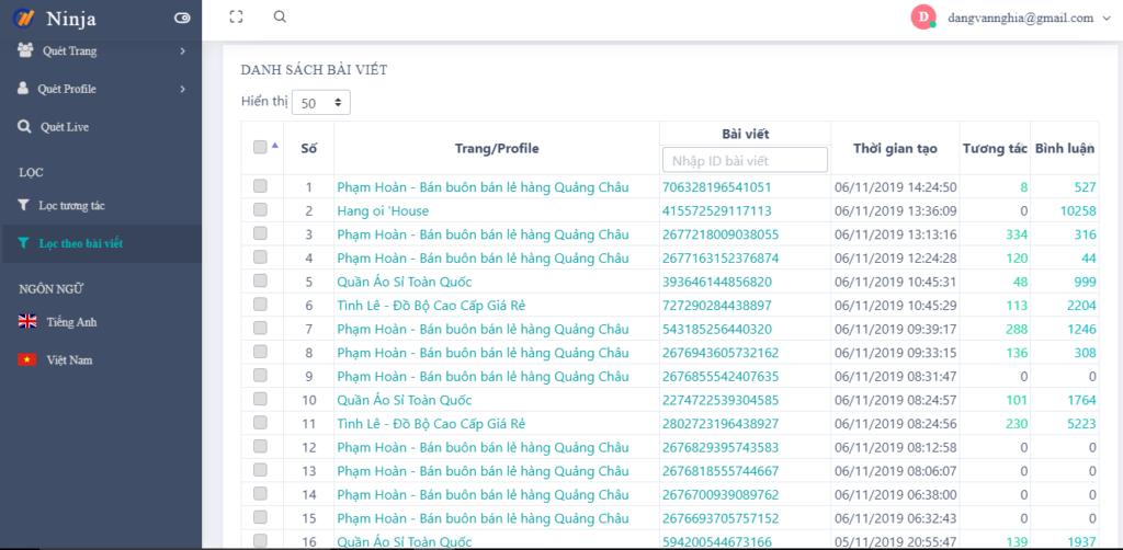 filter post 1024x502 UID Pro giúp người dùng tiếp cận khách hàng tiềm năng nhanh chóng
