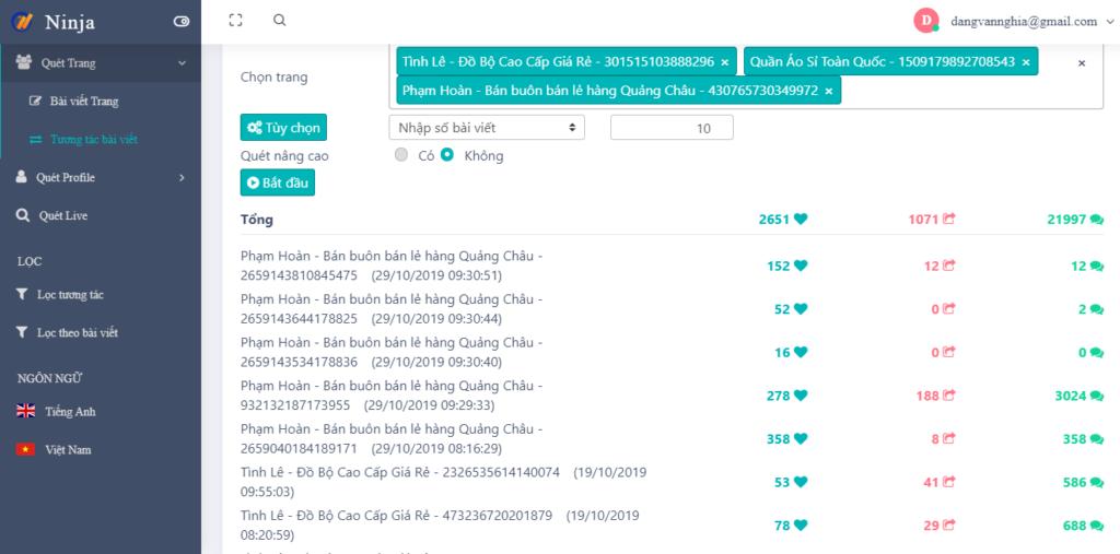interactive post 1 1024x507 Hướng dẫn lọc tương tác bài viết trên UID Pro
