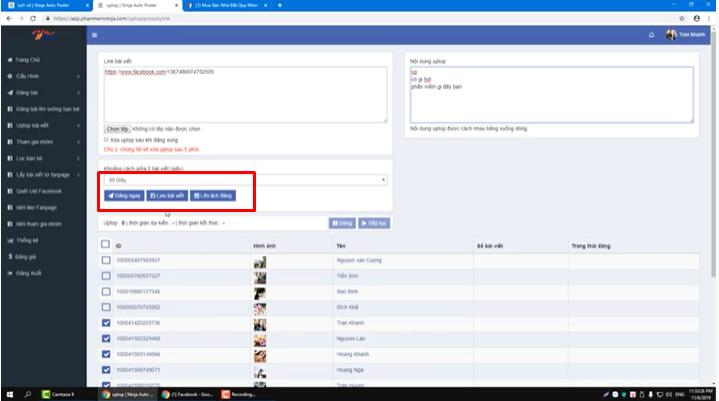 luachonlaplichdang Phần mềm Ninja Auto Post hướng dẫn Uptop bài viết New