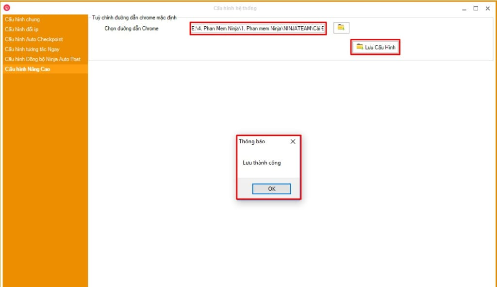 luw cau hinh chrome75 1024x591 Hướng dẫn Cấu hình Chrome75 trên Phần mềm Ninja Care