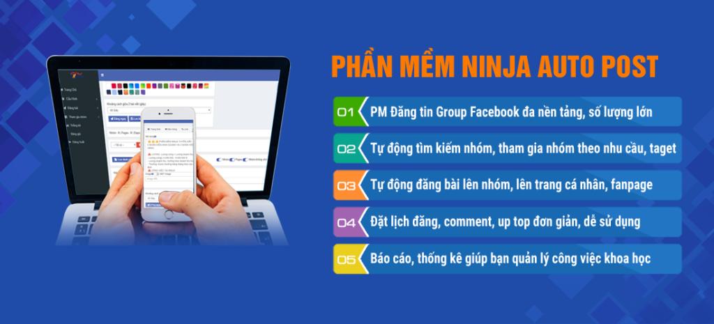 ninja auto post 1 1024x465 Bí quyết bùng nổ doanh số trên Facebook với chi phí 0 đồng