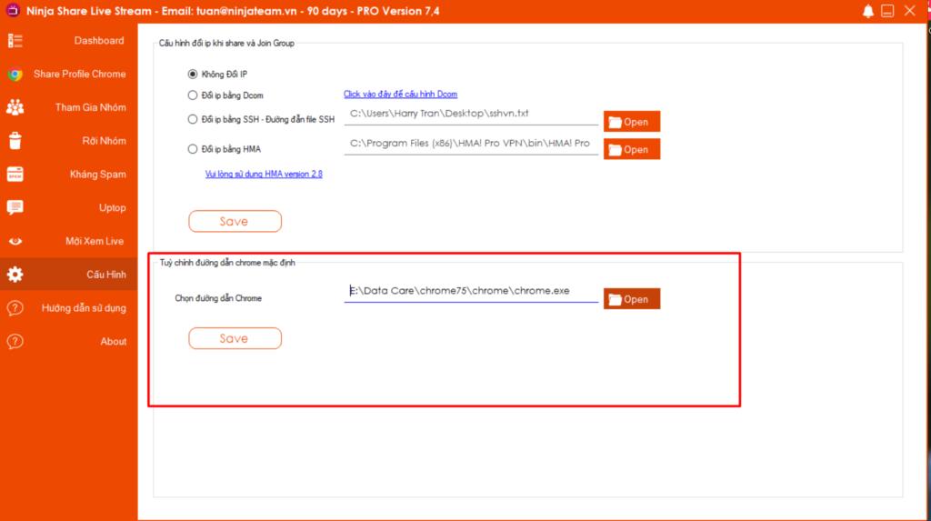 ninja share livestream 1024x573 Cập nhật phần mềm Ninja Share Livestream Version 7.4
