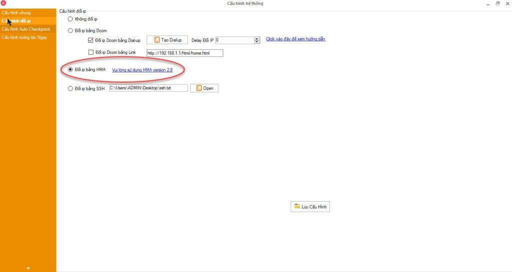su dung HMA 1024x545 Phần mềm Ninja hướng dẫn Nuôi tài khoản Facebook sử dụng HMA