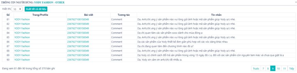 thông tin người dùng 1024x254 NINJA UID PRO   phần mềm thu thập data khách hàng tiềm năng