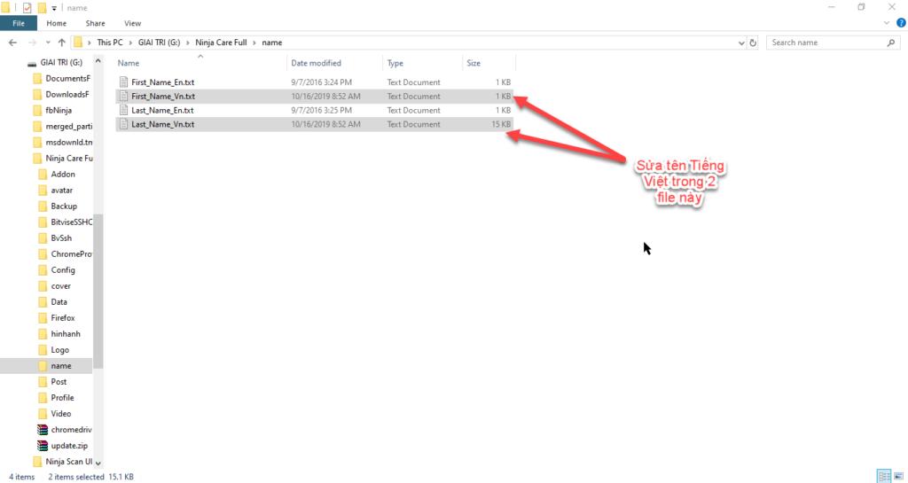 thay avata 1024x545 Lưu ý khi thay ảnh, đổi tên cho tài khoản trong Phần mềm Ninja Care