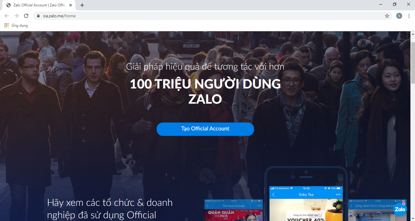 1 4 Hướng dẫn tạo và kết nối Official Account với Ninja Zalo